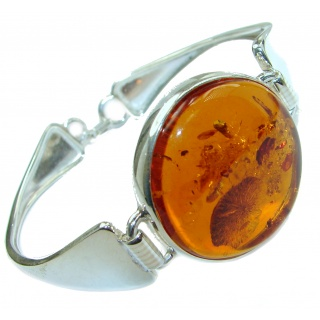 Modern Design Genuine Baltic Amber .925 Sterling Silver handamde Bracelet