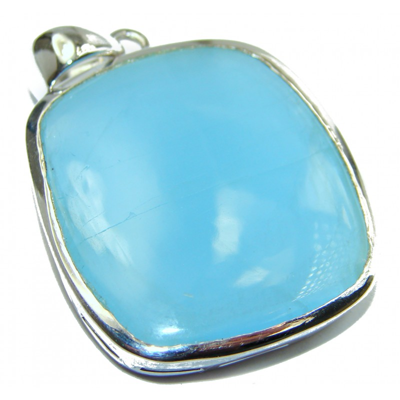 Genuine 43.5 ct Aquamarine .925 Sterling Silver handmade Pendant