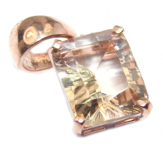 Perfect Morganite 14K Gold over .925 Sterling Silver Pendant