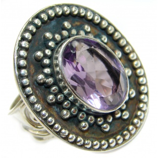 Incredible Purple Quartz .925 Sterling Silver Ring s. 8