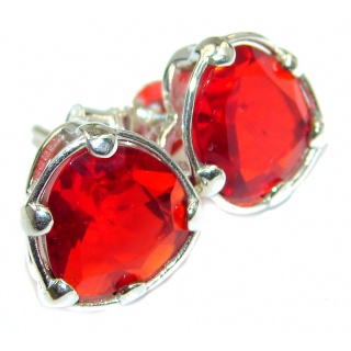 Perfect Red Quartz .925 Sterling Silver handmade earrings