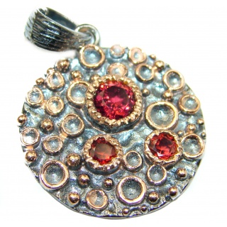 Beautiful genuine Garnet .925 Sterling Silver handcrafted Pendant