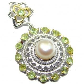 Great Beauty Fresh Water pearl .925 Sterling Silver handcrafted Pendant