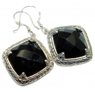 One in the world Onyx .925 Sterling Silver handmade earrings