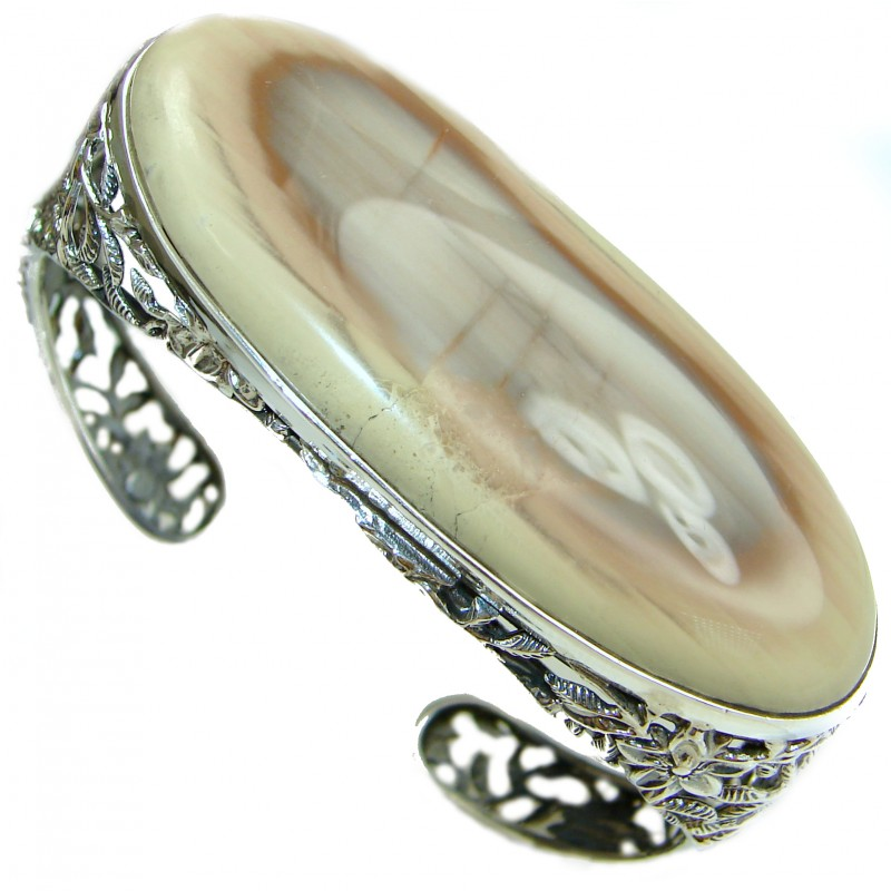 Bohemian Style Excellent quality Imperial Jasper .925 Sterling Silver handcrafted Bracelet