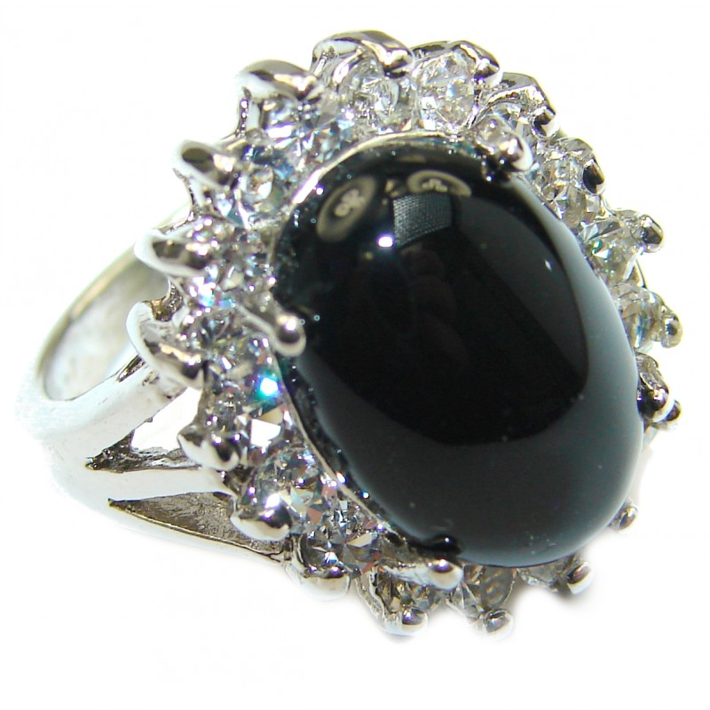 Great Quality Spinel .925 Sterling Silver ring s. 6