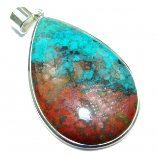 Unique Natural Sonora Jasper .925 Sterling Silver handmade Pendant