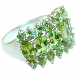 Energazing authentic Peridot .925 Sterling Silver Ring size 9