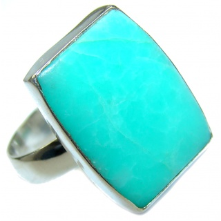 Good Energy Chrysophrase .925 Sterling Silver Ring s. 7 adjustable
