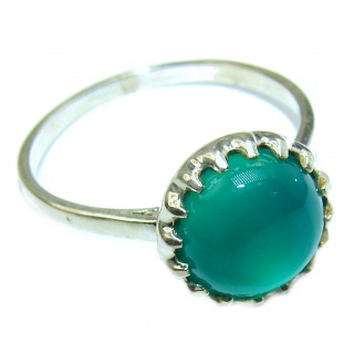 Excellent quality Botswana Agate .925 Sterling Silver Ring s. 8