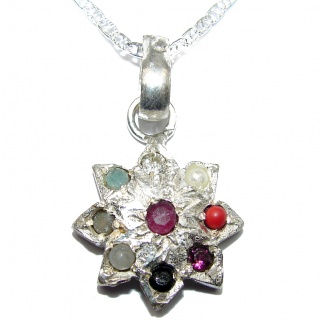Fields Of Summer Natural Multigem .925 Sterling Silver Necklace