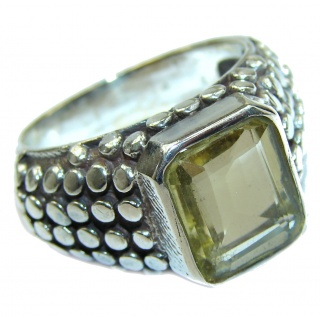 Vintage Style Natural Citrine .925 Sterling Silver handcrafted Ring s. 12