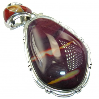 Amazing Australian Mookaite .925 Sterling Silver handcrafted pendant