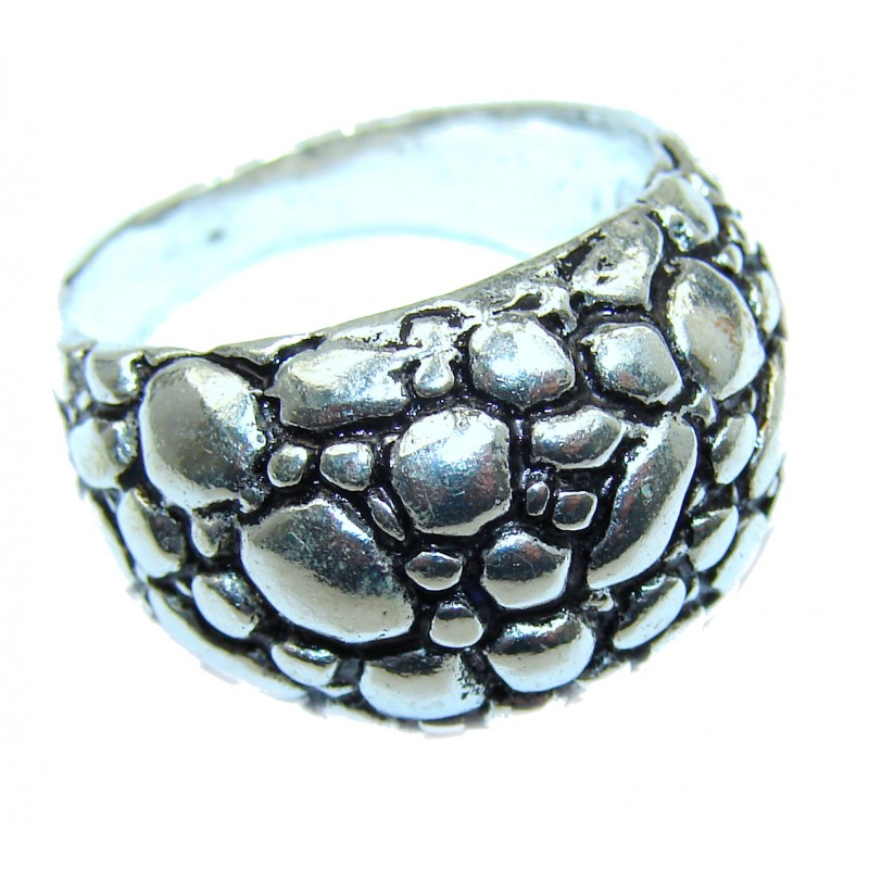 .925 Sterling Silver Bali handmade ring size 9