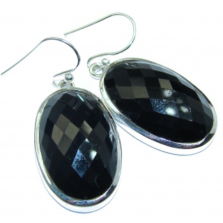 Simple The Best Black Onyx .925 Sterling Silver earrings