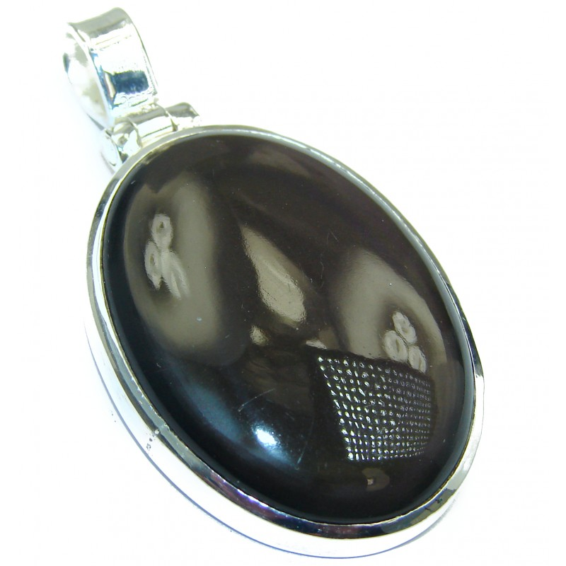 Natural Cats Eye .925 Sterling Silver handmade Pendant