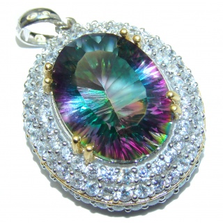 Spectacular Magic Topaz .925 Sterling Silver handcrafted Pendant