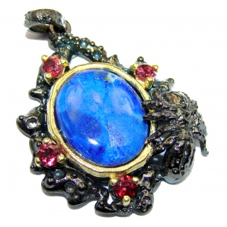 Perfect Lapis Lazuli .925 Sterling Silver handcrafted Pendant