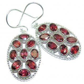 Authentic Garnet .925 Sterling Silver handmade earrings