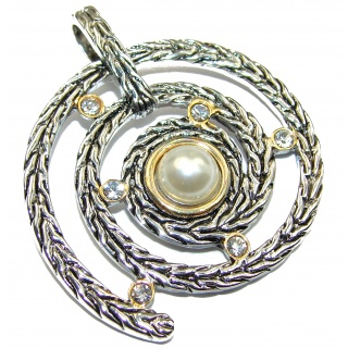 Prosperity and Fortune white Pearl .925 Sterling Silver pendant