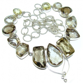 Fields Of Summer Natural Multigem .925 Sterling Silver handcarfted Necklace