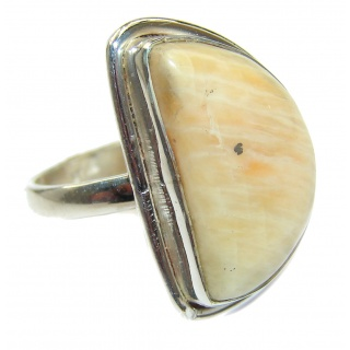 Exotic Agate Sterling Silver Ring s. 6 3/4
