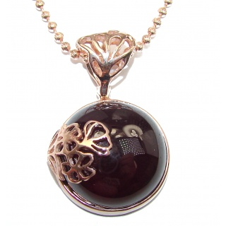 Genuine Garnet Rose Gold over .925 Sterling Silver handmade Necklace