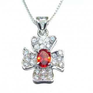 Beauty Cubic Zirconia .925 Sterling Silver handcrafted necklace