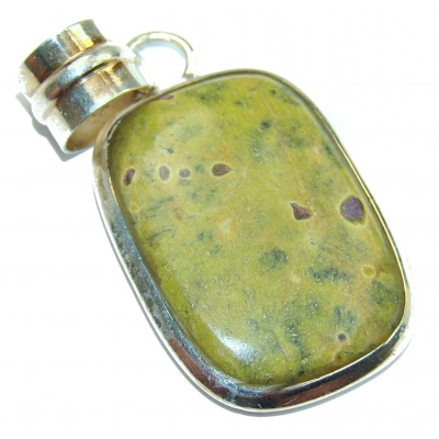 Top Quality Atlantisite Oxidized .925 Sterling Silver handmade Pendant