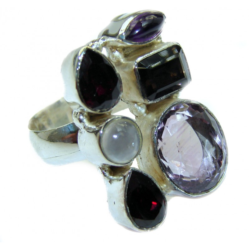 Energazing Multigem .925 Sterling Silver Ring size 7