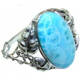 Beauty of Nature Blue Larimar .925 Sterling Silver handcrafted Bracelet