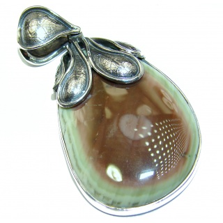 Sweet Melody Imperial Jasper .925 Sterling Silver handmade Pendant