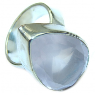 Best Quality Rose Quartz .925 Sterling Silver handcrafted ring s. 6