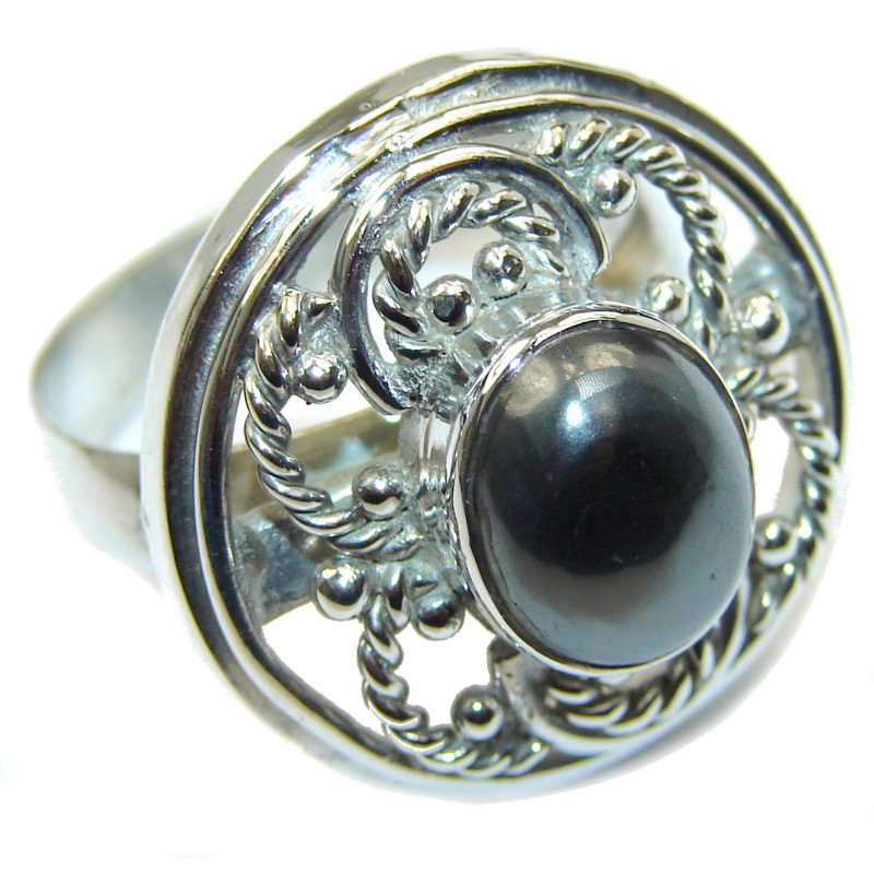 Amazing Hematite Sterling Silver ring s. 9 1/4