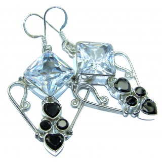 Cubic Zirconia .925 Sterling Silver handcrafted earrings
