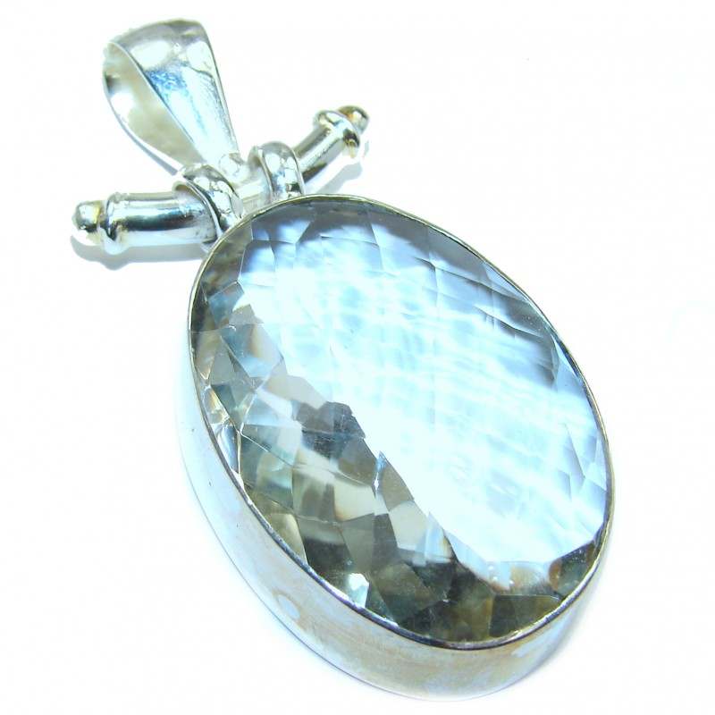 Perfect White Topaz .925 Sterling Silver handcrafted Pendant