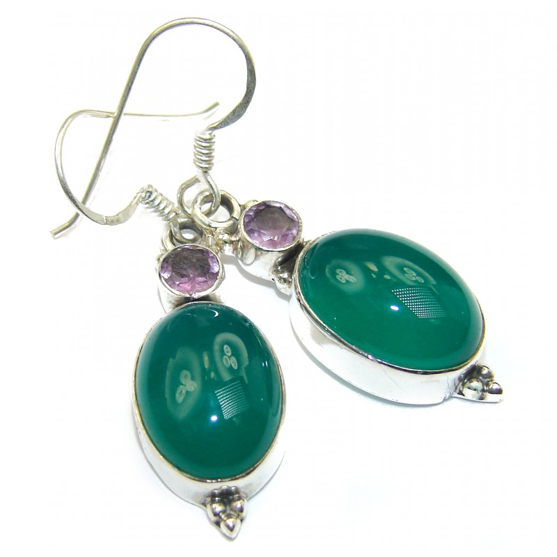 Sublime Agate .925 Sterling Silver handmade earrings