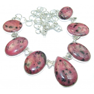 Handmade Natural Rhodolite .925 925 Sterling Silver handcrafted necklace