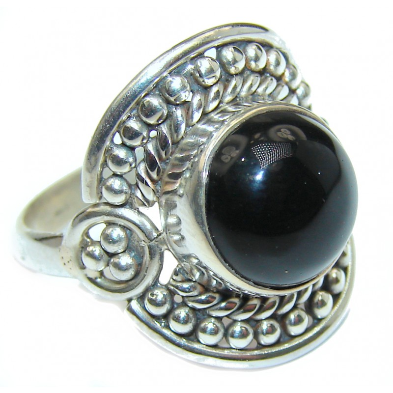 Majestic Authentic Onyx .925 Sterling Silver handmade Ring s. 7 1/4