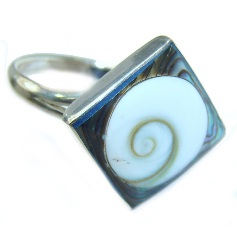 Great Ocean Shell Sterling Silver Ring s. 6 1/2