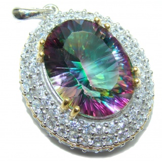 Absolutely Spectacular Magic Topaz .925 Sterling Silver handcrafted Pendant