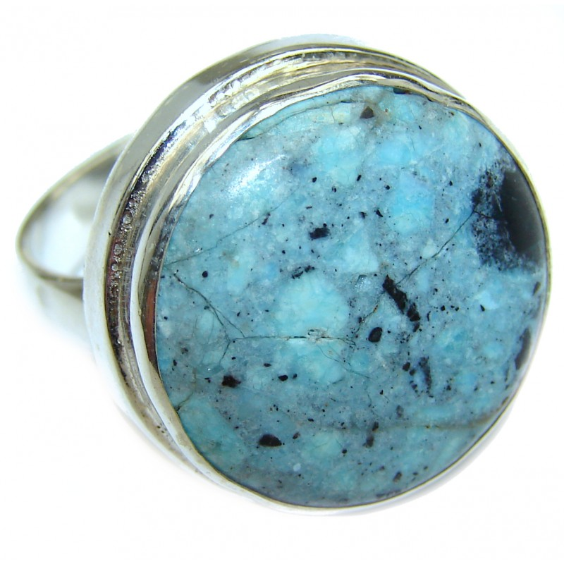 Sea Sediment Jasper .925 Sterling Silver handmade ring size 9