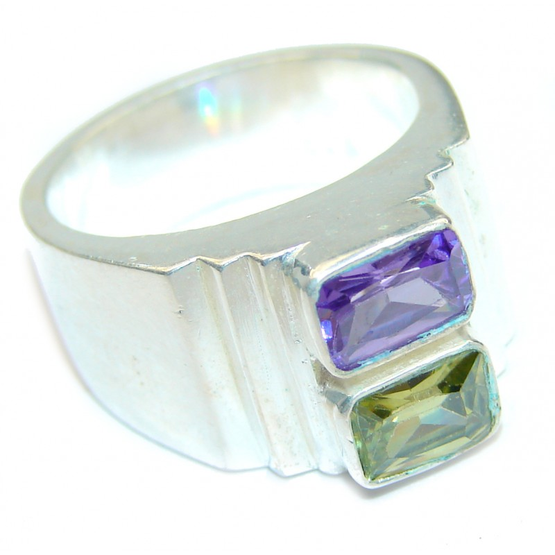 Energizing genuine Amethyst .925 Sterling Silver handcrafted Ring size 7
