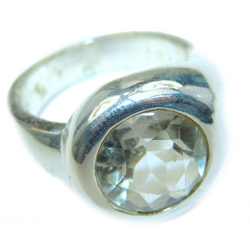 White Topaz Sterling Silver ring; s. 7