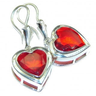 Sweet Heart Cubic Zirconia .925 Sterling Silver handcrafted earrings