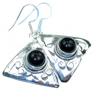 Incredible Onyx .925 Sterling Silver earrings