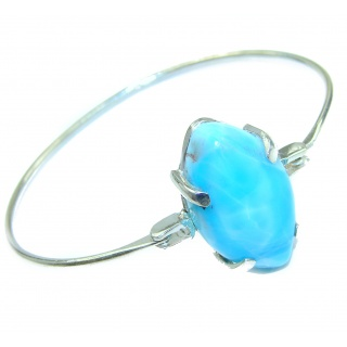Sublime Beauty of Nature Blue Larimar .925 Sterling Silver handcrafted Bracelet