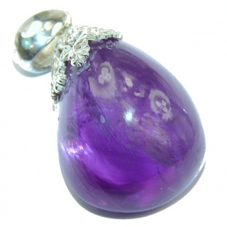 Her Majesty Natural 38 ct Amethyst .925 Sterling Silver handmade Pendant