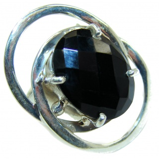 Majestic Authentic Onyx .925 Sterling Silver handmade Ring s. 6 1/4