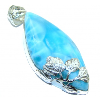 Real Treasure authentic Larimar .925 Sterling Silver handmade pendant